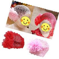 Toddlers Baby Girls Crochet Flower Princess Headband Lace