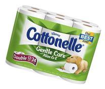 Cottonelle Toilet Paper, Aloe & Vitamin E, Double Roll, Case