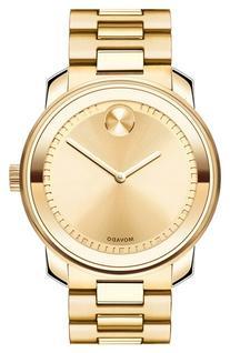Movado Bold Bold Gold Tone Watch with Link Bracelet