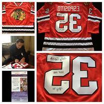 Tony Esposito Chicago Blackhawks Signed Autograph Red Jersey