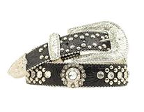 Blazin Roxx Women's Tooled Embellished Belt Black Medium