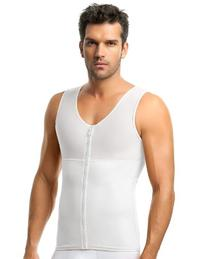 Upper Body Full Compression Men Shaper,Cafe,4XL