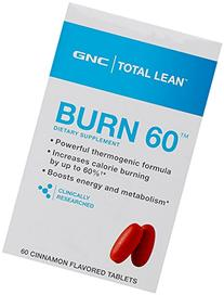 GNC Total Burn Thermogenic Nutritional Supplement, Cinnamon
