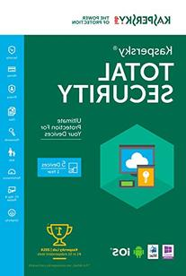 Kaspersky Total Security 2016 | 5 Devices |  1 Year |
