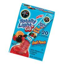 4C Totally Light 2Go Fruit Punch Drink Mix, 20ct