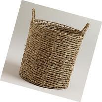 "Trista Seagrass Tote Basket 15""W x 15""D x 15""H"