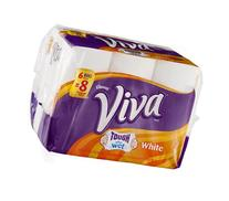 Viva Tough When Wet White Paper Towels 6 ROL