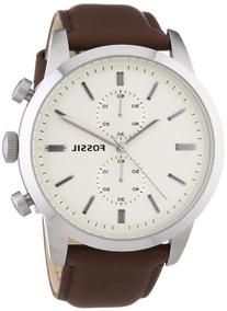 Fossil Townsman Leather Chronograph Mens Watch FS4865