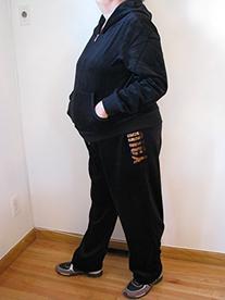 Adult Juicy Couture Tracksuit 1x Black Velour Sweat Suit
