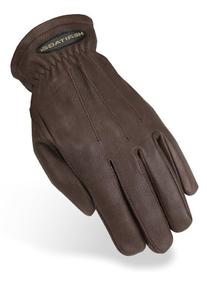 Heritage Trail Gloves, Size 8, Chocolate Brown