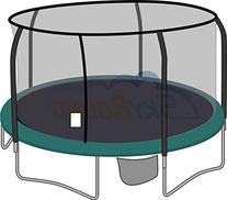 15ft Trampoline Replacement Safety Enclosure Net For
