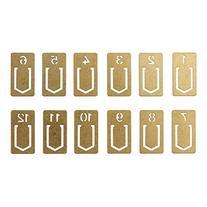 Midori Brass Clip Number