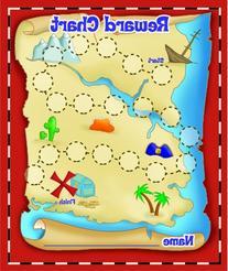 Eureka island Treasure Hunt Mini Reward Charts with Stickers