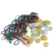 Treasure Loot Includes: 12 - Asstd Color Party Beads,  Party