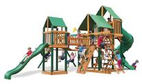 Treasure Trove Swing Set with Green Vinyl Canopy