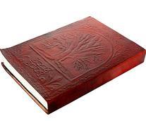 Handmade Leather Bound Journal - Vintage Tree of Life Sacred