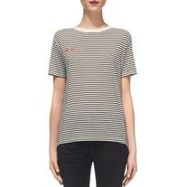 Whistles Tres Bon Embroidered Tee