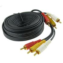 Triple 3 RCA Male to Male Audio Video DVD TV AV Cable 4.6M