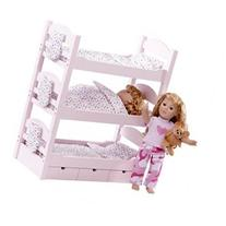Triple Bunk Bed/ Dolls Beds fits 18 inch American Girl Doll