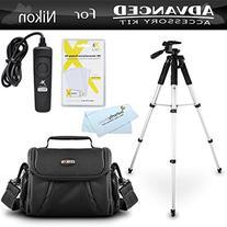 Tripod Bundle Kit For Nikon D7200, Df, D750, D5500, D5300,