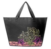 Large Tropical Insulated Tote Bag Honu  and Monstera Leaf