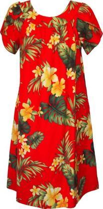 fa1697a8a042 RJC Womens Tropical Summer Hibiscus Tea Length Muumuu Dress