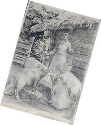 At the trough by Zigurds Gustins. Realistic drawing life in