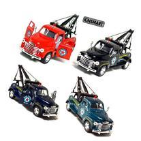 """Set of 4 Trucks: 5"""" 1953 Chevy 3100 Wrecker, Pull Back"""