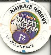 $1 trump marina dolphin vintage obsolete casino chip