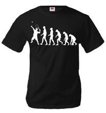 buXsbaum T-Shirt The Evolution of tennis-L-Black-White