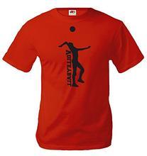 buXsbaum T-Shirt Volleyball V2-XXL-Red-Black
