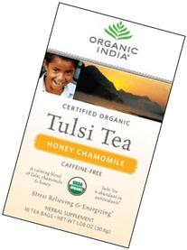 Organic India Tulsi Tea, Honey Chamomile, 18 Count