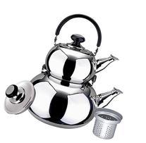 Turkish Double Tea Kettle Pot - Samovar Style Water Boiler