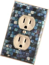 Turquoise Tiles Decorative Outlet Plate Cover