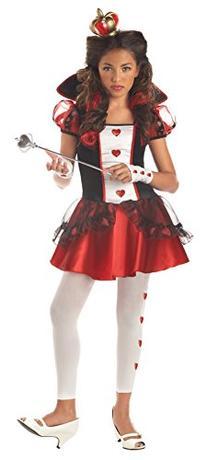 California Costumes Girls Tween Queen of Hearts Costume, X-
