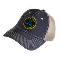 Ascend Twill Circle Logo Cap - Navy