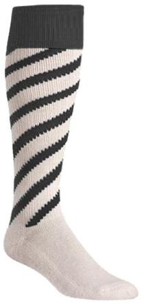 Twin City Candy Strips Socks Small, White, Black