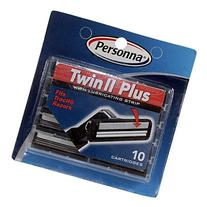 Personna TWIN II Plus Cartridges with Lubricating Strip for