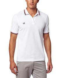 Fred Perry Men's Twin Tipped Polo Shirt-M3600, White/