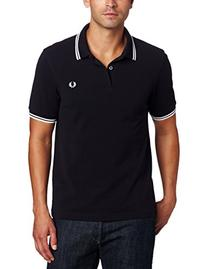 Fred Perry Men's Twin Tipped Polo Shirt-M3600, Navy/White/