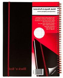 Black n' Red Twin Wire Poly Cover Notebook, 11 x 8-1/2