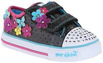 Skechers Kids 10472N Light-up Sneaker,Black/Multi,11 M US