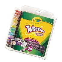 Crayola - Twistables Colored Pencils, 30 Assorted Colors/