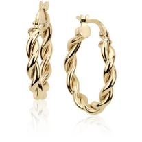 Blue Nile Twisted Hoop Earrings