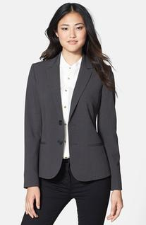 Women's Anne Klein Two-Button Suit Jacket, Size 2 - Grey