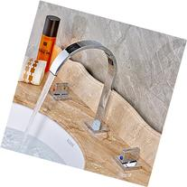 Rozin Two Handles Bath Mixer Taps Widespread Waterfall