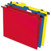 Two-in-One Colored Poly Folders with Built-In Tabs, Letter,