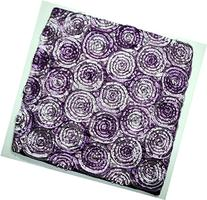 ''ENJOY SMILE '' Two Tone 3d Bouquet of Purple Roses Throw