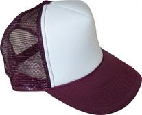 Enimay Two Tone Curved Mesh Trucker Hat Cap Purple