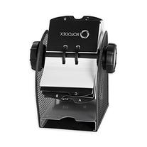 Rolodex Two-Tone Mesh Rotary Business Card File, 400-Card,
